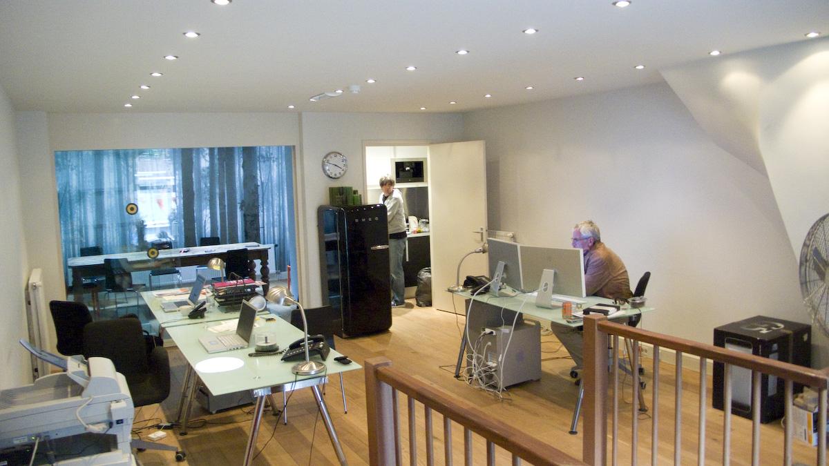Post-production office white light