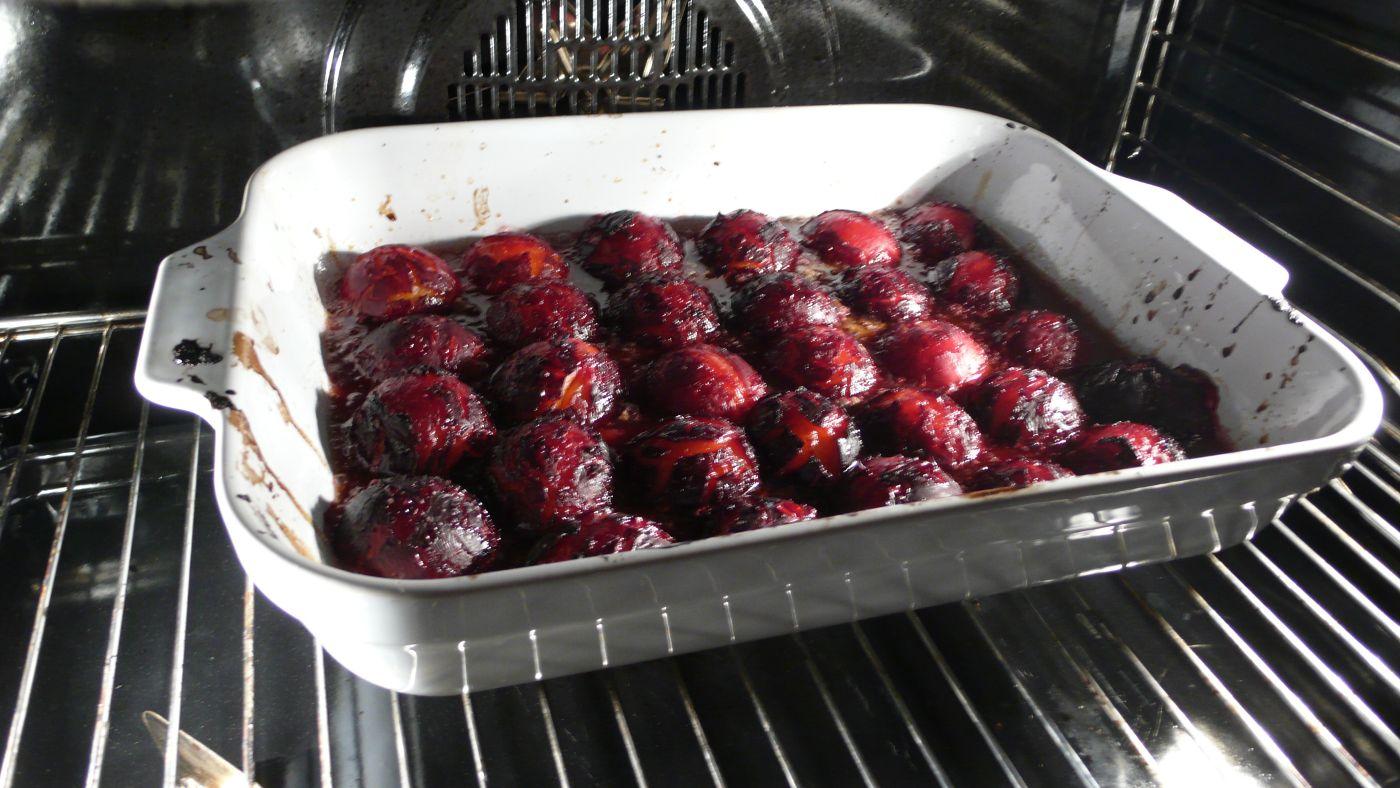 plums sugar butter=